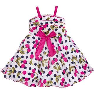 YashasviS Printed GirlS Pink Colored Dress
