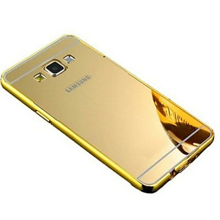 Back Cover for Metal Bumper Plus Acrylic Mirror Back Cover For Samsung Galaxy On7