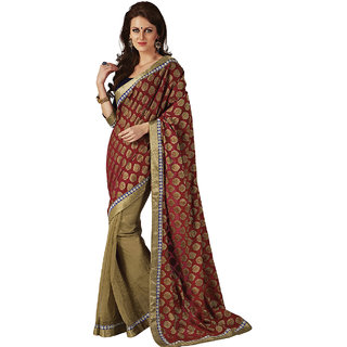 Subhash Sarees Multicolor Colored Net Printed Saree/Sari