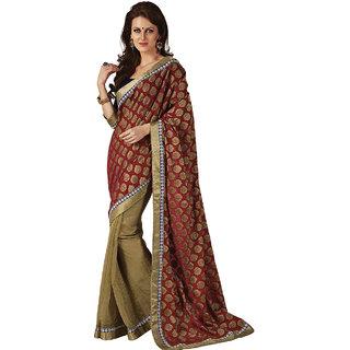 Subhash Sarees Multicolor Colored Net Printed Saree/Sari