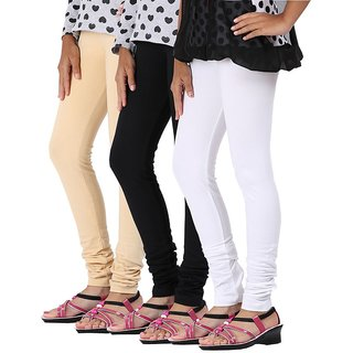 Stylobby Multi color Leggings For Girls Pack of 3