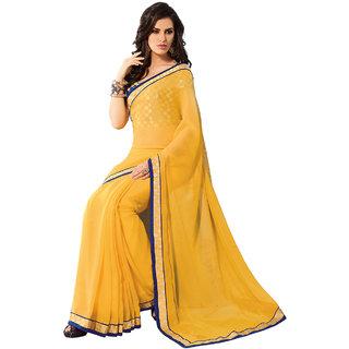 a940648e5 Buy Subhash Sarees Yellow Colored Chiffon Printed Saree/Sari Online ...