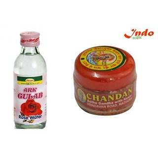 Combo of Ayurevedic Ark Gulab (Rose Water) + Sandal wood powder 100  Pure
