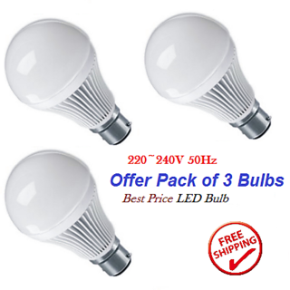 Best Price LED Bulb Offer 12W (3x12W LED bulbs)