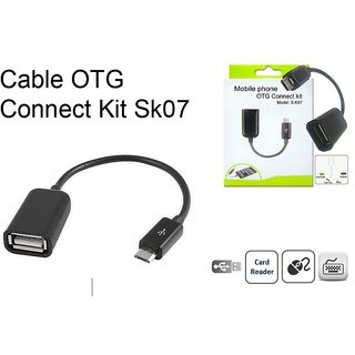 USB OTG Cable For Attach Pendrive, Mouse, Keyboard To Mobiles Tablets