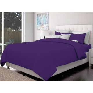 Just Linen 200 TC Cotton Sateen Royal Purple Colored Striped King Size Ac Comforter