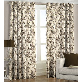 Just linen maroon polyester jacquard door eyelet curtain