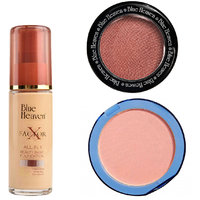 X Factor Foundation (Natural), Silk On Face Compact (Skin)  Diamond Blush on 502
