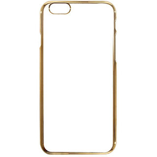 MuditMobi Stylish MeePhone Soft Silcon Back Cover For- Apple iPhone 6 Plus- Transparent-Gold