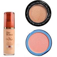 X Factor Foundation (Blush), Silk On Face Compact (Pink)  Diamond Blush on 505