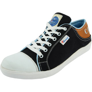 Chamois Mens Black Casual Sneakers