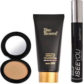 Tube Foundation (Blush) , Artisto Compact (Natural Beige)   I See You 2 in 1 Mascara/Eyeliner