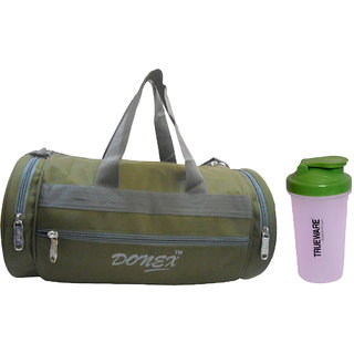 Combo Donex 11 L Gym Bag Green and Trueware Protein Shaker 1282