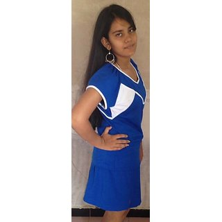 LBH Lily's of Beverly Hill Sports Top & Skirt Blue Coloured