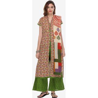Varanga Multi Cotton Printed Dress Material (Unstitched)