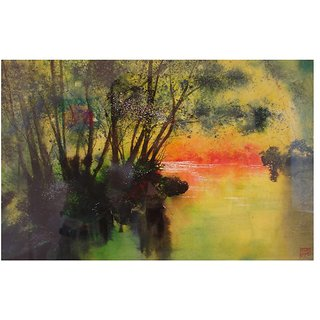 VR ARTS Digitally Printed Frameless Canvas Painting Abstract-0297