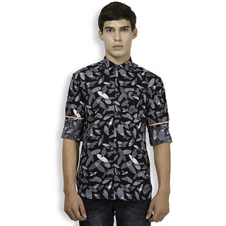Locomotive Black Button Down Full Sleeves Mens Casual Shirt