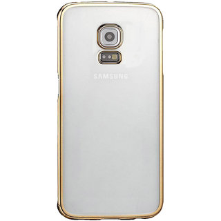 MuditMobi Stylish MeePhone Soft Silcon Back Cover For- Samsung Galaxy Note 4- Transparent-Gold
