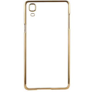 MuditMobi Stylish MeePhone Soft Silcon Back Cover For- HTC Desire 828 Dual Sim- Transparent-Gold
