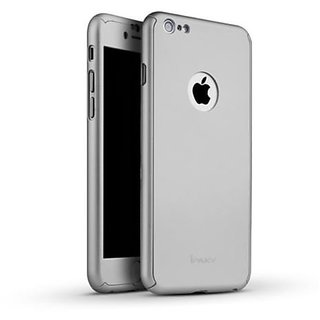 MuditMobi iPaky 360 Protective Body Case With Tempered Glass Case Cover For- Iphone 6 - Silver