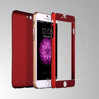 MuditMobi iPaky 360 Protective Body Case With Tempered Glass Case Cover For- Apple Iphone 6 - Red