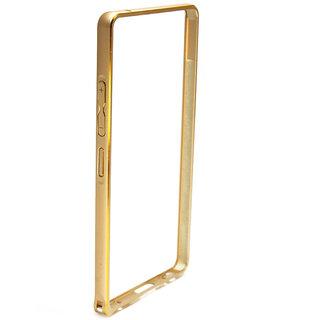 MuditMobi Luxury Aluminium Metal Side Bumper Case Cover For- Lenovo A6000- Golden