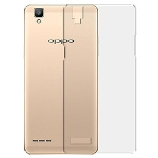 MuditMobi Soft Silicone TPU Crystal Soft Transparent Back Case Cover For- Oppo F1