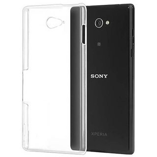 MuditMobi Soft Silicone TPU Crystal Soft Transparent Back Case Cover For- Sony Xperia M2