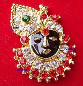Beautiful Lord Krishna Multi Color Cz Diamond Pendent