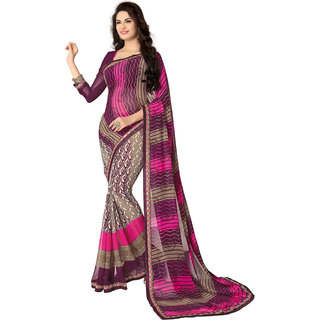 Anjali Exclusive Collection of Multicolor Georgette Saree