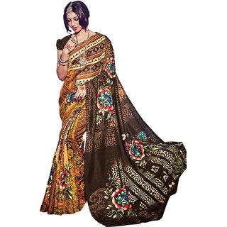 Anjali Exclusive Collection of Yellow Bhagalpuri Silk Saree