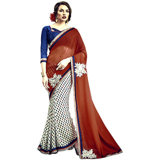 Anjali Exclusive Collection of Multicolor Chiffon and Georgette Saree