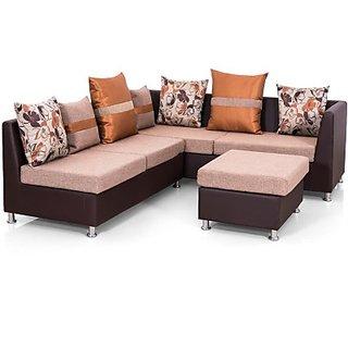 Classy Solid Wood 3 + 2 + 1 Sofa Set