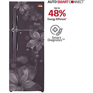 Lg 284 L Gl U302jgol Frost Free Double Door 4 Star Refrigerator Graphite Orchid Available In Delhi Ncr Only Refrigerators