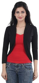 Trendy Black Short Shrug By Bfly