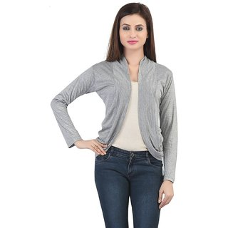 2433a056f53 Buy Trendy Grey Short Shrug By Bfly Online - Get 50% Off
