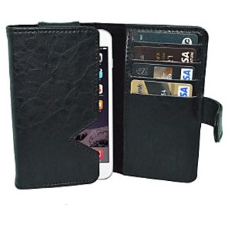 Totta Wallet Case Cover for Apple iPhone 6 Plus (Black)