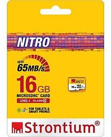 STRONTIUM 16 GB NITRO CLASS 10 MICRO SDHC MEMORY CARD