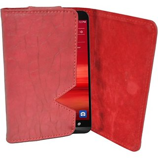 Totta Wallet Case Cover for Archos 53 Platinum (Red)