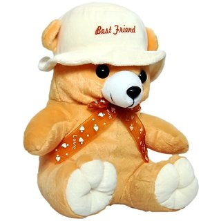 Sunshine Soft Toy Teddy Bear with Cap - (Assorted)