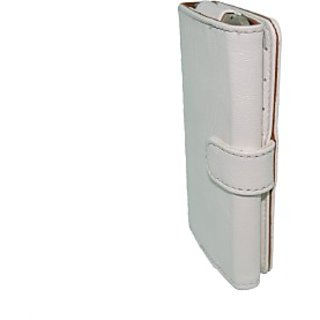 Totta Wallet Case Cover for Karbonn A6 Turbo (White)