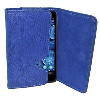 Totta Wallet Case Cover for Icemobile Prime 5.5 (Blue)
