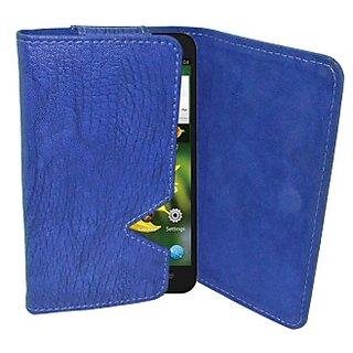 Totta Wallet Case Cover for Karbonn Titanium Dazzle S202 (Blue)