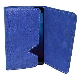 Totta Wallet Case Cover for Karbonn Aura 9 (Blue)