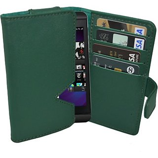 Totta Wallet Case Cover for Microsoft Lumia 735 (Green)