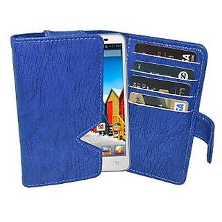 Totta Wallet Case Cover for Micromax Canvas Power A96 (Blue)