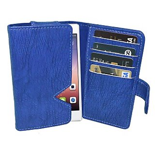 Totta Wallet Case Cover for Huawei Ascend D Quad (Blue)