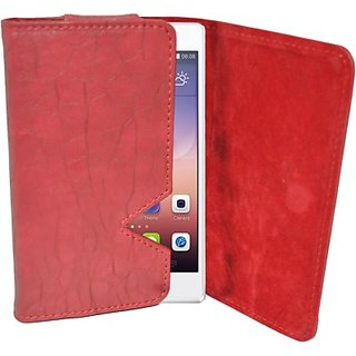 Totta Wallet Case Cover for Huawei Honor 6 Plus (Red)