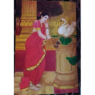 An oil repainting of RajaRavivarmas