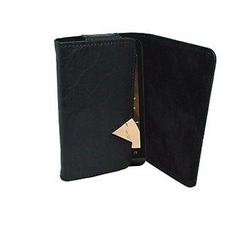 Totta Wallet Case Cover for Salora Arya A1 Plus (Black)